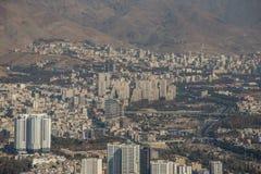 Vista aerea della città di Teheran, Iran Fotografia Stock Libera da Diritti