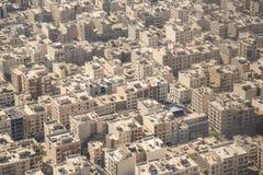 Vista aerea della città di Teheran, Iran Fotografie Stock