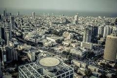Vista aerea della città di Tel Aviv, Israele Fotografia Stock