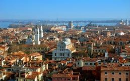 Vista aerea della città di Venezia immagini stock