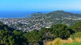 Vista aerea della città di Wellington Fotografie Stock Libere da Diritti