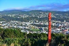 Vista aerea della città di Wellington Immagine Stock