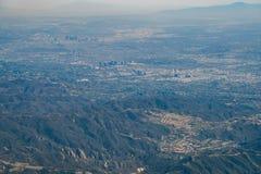 Vista aerea della città e di Westwood di Los Angeles del centro fotografia stock libera da diritti