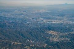 Vista aerea della città e di Westwood di Los Angeles del centro immagini stock libere da diritti