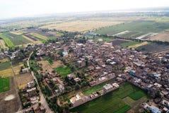 Vista aerea della città egiziana Immagine Stock Libera da Diritti
