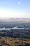 Vista aerea della città egiziana Immagini Stock Libere da Diritti