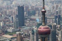 Vista aerea della città moderna fotografie stock