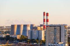 Vista aerea della città Mosca Immagini Stock