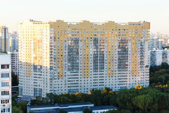 Vista aerea della città Mosca Immagine Stock