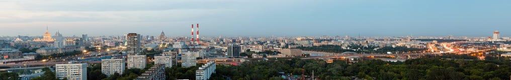 Vista aerea della città Mosca Immagine Stock Libera da Diritti