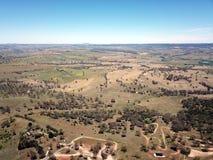Vista aerea della città regionale del paese di Bathurst fotografie stock libere da diritti
