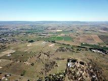 Vista aerea della città regionale del paese di Bathurst immagini stock libere da diritti