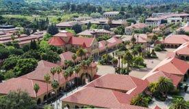 Vista aerea della città universitaria di Stanford Universtity Immagini Stock