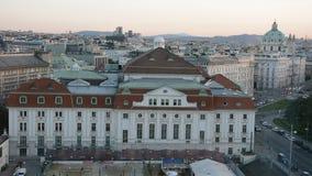 Vista aerea della città Vienna stock footage