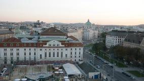 Vista aerea della città Vienna archivi video