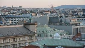 Vista aerea della città Vienna video d archivio