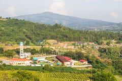 Vista aerea della cittadina immagini stock libere da diritti