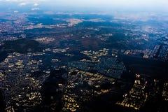 Vista aerea della Corea del Sud dall'aeroplano fotografia stock