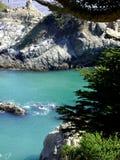 Vista aerea della costa di Big Sur California in Julia Pfeiffer Burns State Park fotografia stock
