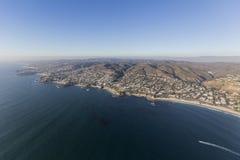 Vista aerea della costa di California del Laguna Beach Immagini Stock