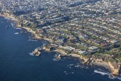 Vista aerea della costa di California del Laguna Beach Fotografia Stock Libera da Diritti