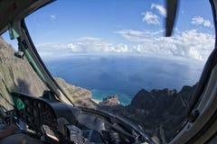 Vista aerea della costa di napali di Kauai Immagini Stock