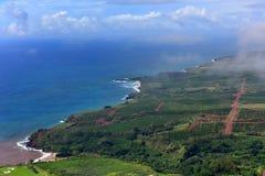 Vista aerea della costa ovest dell'isola di Kauai Immagini Stock Libere da Diritti