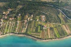 Vista aerea della Croazia Fotografia Stock