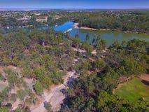 Vista aerea della diga di Mildura Fotografie Stock Libere da Diritti