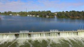 Vista aerea della diga di Mildura e della serratura 11 video d archivio