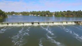 Vista aerea della diga di Mildura e della serratura 11 archivi video