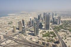 Vista aerea della Doubai fotografie stock libere da diritti
