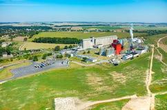 Vista aerea della fabbrica del combustibile biologico Immagini Stock Libere da Diritti