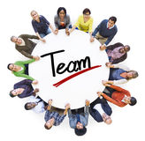 Vista aerea della gente e di Team Concepts Fotografie Stock