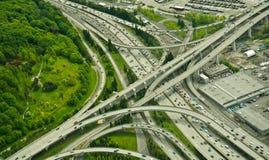 Vista aerea della giunzione da uno stato all'altro Immagini Stock Libere da Diritti