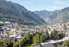 Vista aerea della La Bella dell'Andorra Fotografia Stock