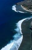 Vista aerea della laguna Reunion Island del leu del san fotografie stock libere da diritti