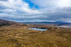 Vista aerea della linea costiera da Marameelan a sud di Dungloe, contea il Donegal - Irlanda fotografie stock