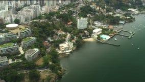 Vista aerea della linea costiera di Niteroi Fotografie Stock