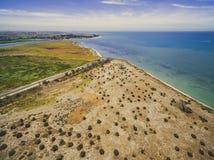 Vista aerea della linea costiera di Phillip Bay della porta Fotografie Stock