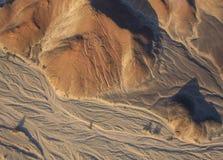 Vista aerea della linea di Nazca, astronauta, Perù Fotografia Stock