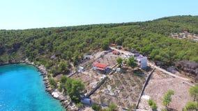 Vista aerea della località di soggiorno video d archivio
