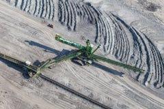 Vista aerea della miniera di carbone Fotografie Stock