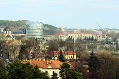 Vista aerea della molla del distretto di Zverynas della città di Vilnius Immagini Stock