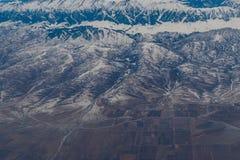 Vista aerea della montagna di Pik Talgar vicino ad Almaty nel dur del Kazakistan Immagine Stock Libera da Diritti