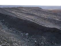 Vista aerea della montagna nera del carbone immagine stock