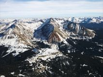 Vista aerea della montagna rocciosa. Immagine Stock