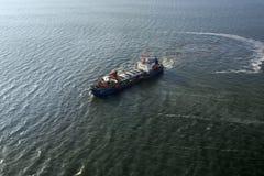 Vista aerea della nave da carico Oceano Atlantico Fotografie Stock