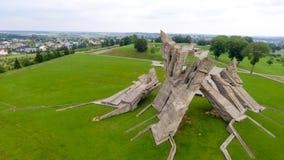 Vista aerea della nona fortificazione, Kaunas - Lituania fotografia stock libera da diritti