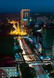 Vista aerea della pagoda di Sule in Rangoon Fotografia Stock Libera da Diritti